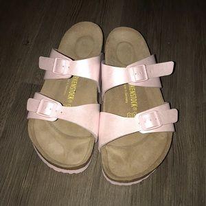 9970ad4121ef Birkenstock Shoes - Pale pink Birkenstocks worn once